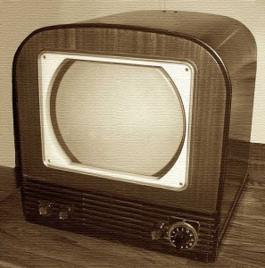 Philco TV 1960s bw